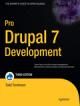 Cover of Pro Drupal 7 Development