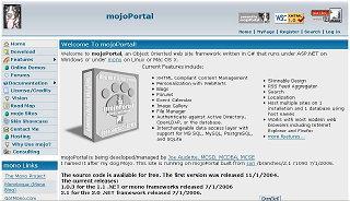 Screenshot of mojoPortal