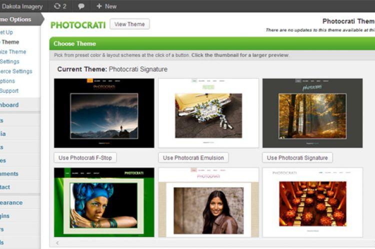 Photocrati 4.6 Admin Screenshot