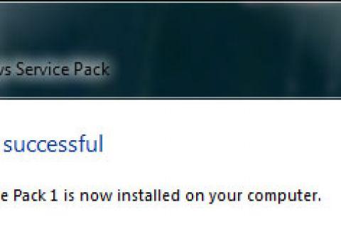 Vista Service Pack 1 Install screenshot